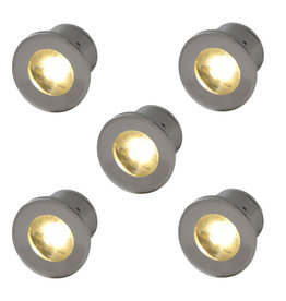 Outlight Led inbouwspots Forte Mini (5 x) 230 volt -2700K