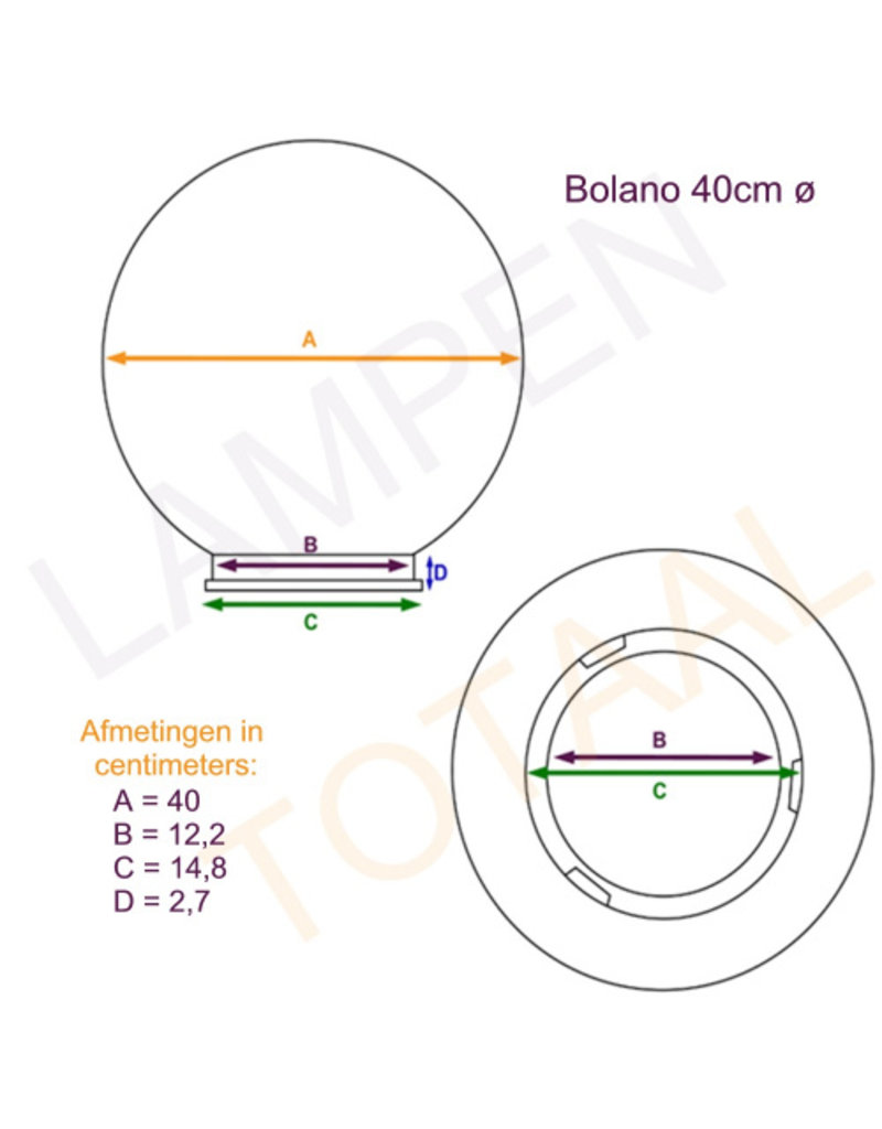 Outlight Bollamp Bolano 40cm.