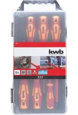 KWB Schroevendraaierset 1000 volt, 6 delig.