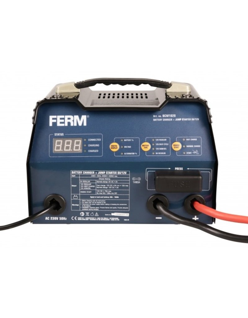 Ferm Acculader met starthulp 6V/12V - BCM1020
