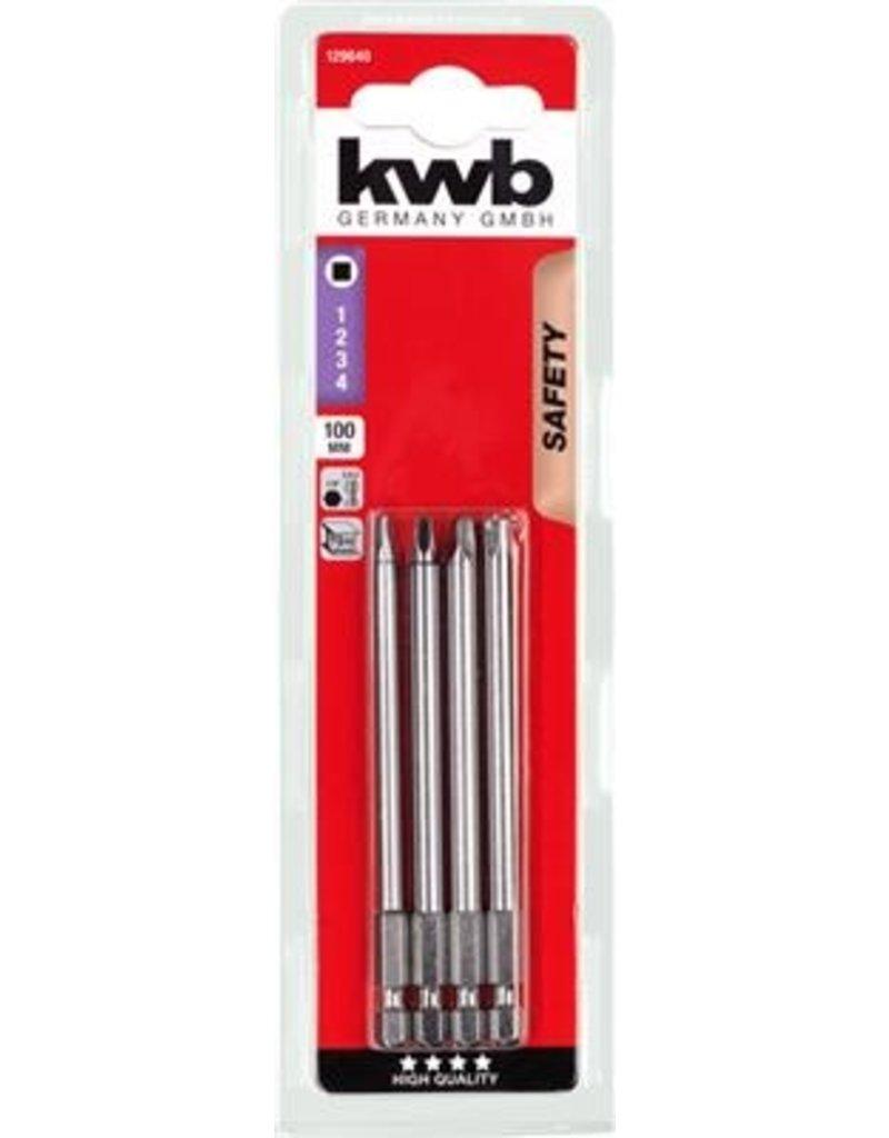 KWB 4 Bits 100Mm Robertson Set Kaart