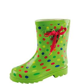 Gevavi Boots Gevavi Boots - Stip kinderlaars rubber groen - Maat 22