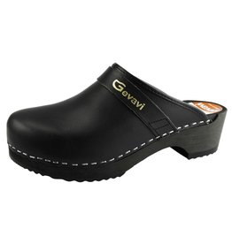Gevavi Gevavi - 9200 open schoenklomp hout zwart - Maat 39