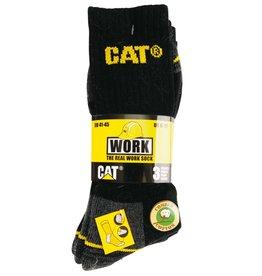 CAT CAT - Sokken 3 paar per bundel zwart/grijs - Maat 46/50