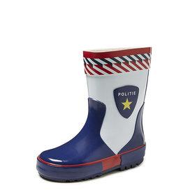 Gevavi Boots Gevavi Boots - Politie jongenslaars rubber blauw/wit - Maat 25