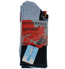 Gevavi Workwear Gevavi Workwear - GW81 Cool sok 2 paar/bundel zwart - Maat 39/42