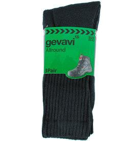 Gevavi Workwear Gevavi Workwear - GW84 Allround sok 3 paar/bundel zwart - Maat 39/42