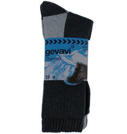 Gevavi Workwear Gevavi Workwear - GW83 Thermo sok 3 paar/bundel grijs/zwart - Maat 43/46