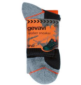 Gevavi Workwear Gevavi Workwear - GW85 Sneaker sok 3 paar/bundel zwart - Maat 43/46