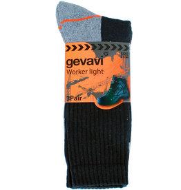 Gevavi Workwear Gevavi Workwear - GW80 Worker Light sok 3 paar/bundel zwart - Maat 39/42
