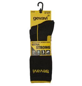 Gevavi Gevavi - ST02 extra strong sokken 2 paar/bundel zwart - Maat 43/46