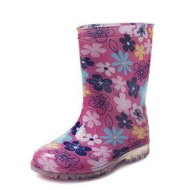 Gevavi Boots Gevavi Boots - Fien meisjeslaars pvc roze bloem - Maat 25