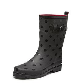 Gevavi Boots Gevavi boots - Anna dameslaars rubber zwart - Maat 39