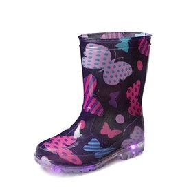 Gevavi Boots Gevavi Boots - Mila kinderlaars met ledlampjes pvc paars - Maat 24