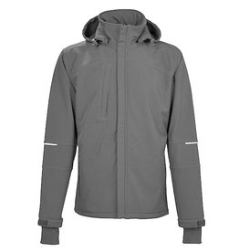 4Work 4WORK - Granada winter softshell zwart/grijs - Maat XL
