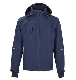 4Work 4WORK - Granada winter softshell navy/zwart - Maat XXXL