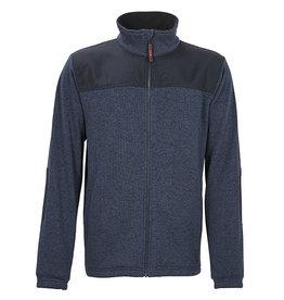 4Work 4WORK- Ronda fleece vest gemeleerd blauw - Maat XL