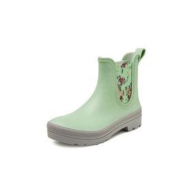 Gevavi Boots Gevavi Boots - 4200 dames enkellaars sebs groen met bloemen - Maat 38