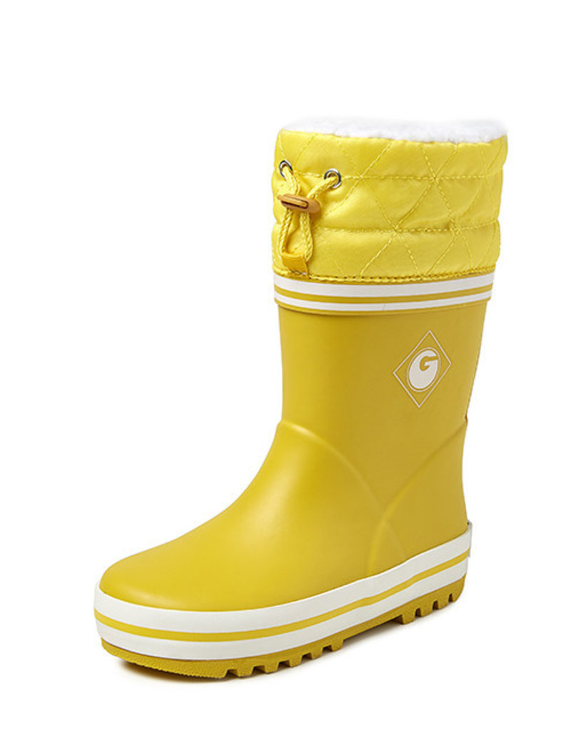 Gevavi Boots Gevavi Boots - Groovy winter rubberlaarsje geel - Maat 22