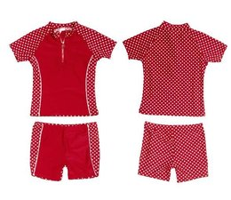 Playshoes UV zwemset red dots