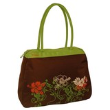 Strandtas flower brown