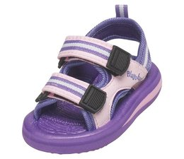 Playshoes watersandaal paars gestreept