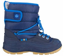 Winter-grip junior snowboots Velcro marine/blauw
