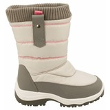 junior snowboots zip-up grijs/roze