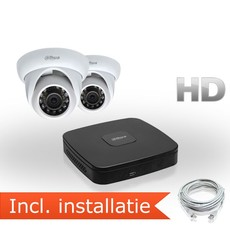 Dahua HD IP Pakket 2 Camera's incl. installatie