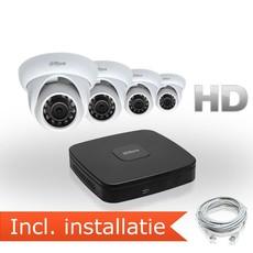 Dahua HD IP Pakket 4 Camera's incl. installatie