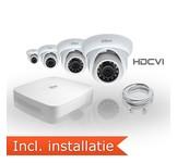 Dahua HDCVI Pakket 4 Camera's Incl. Installatie