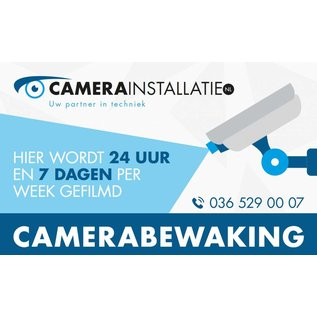 Camerabewaking sticker / bordje