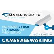 Sticker camerabewaking, 5 x 8 cm