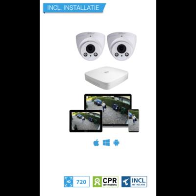 Dahua HD CameraBewaking Pakket 2 Camera's Inclusief Installatie
