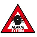 Sticker alarm systeem 123 x 148 mm