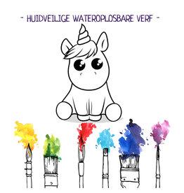 BB - Verf je bruisbal verjaardag set - Baby unicorn