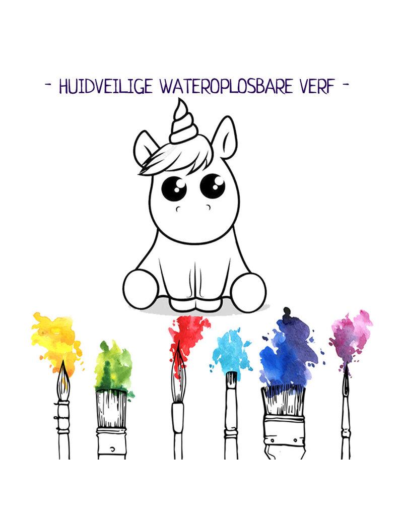 Bath Brick - Verf je bruisbal verjaardag set- Baby unicorn