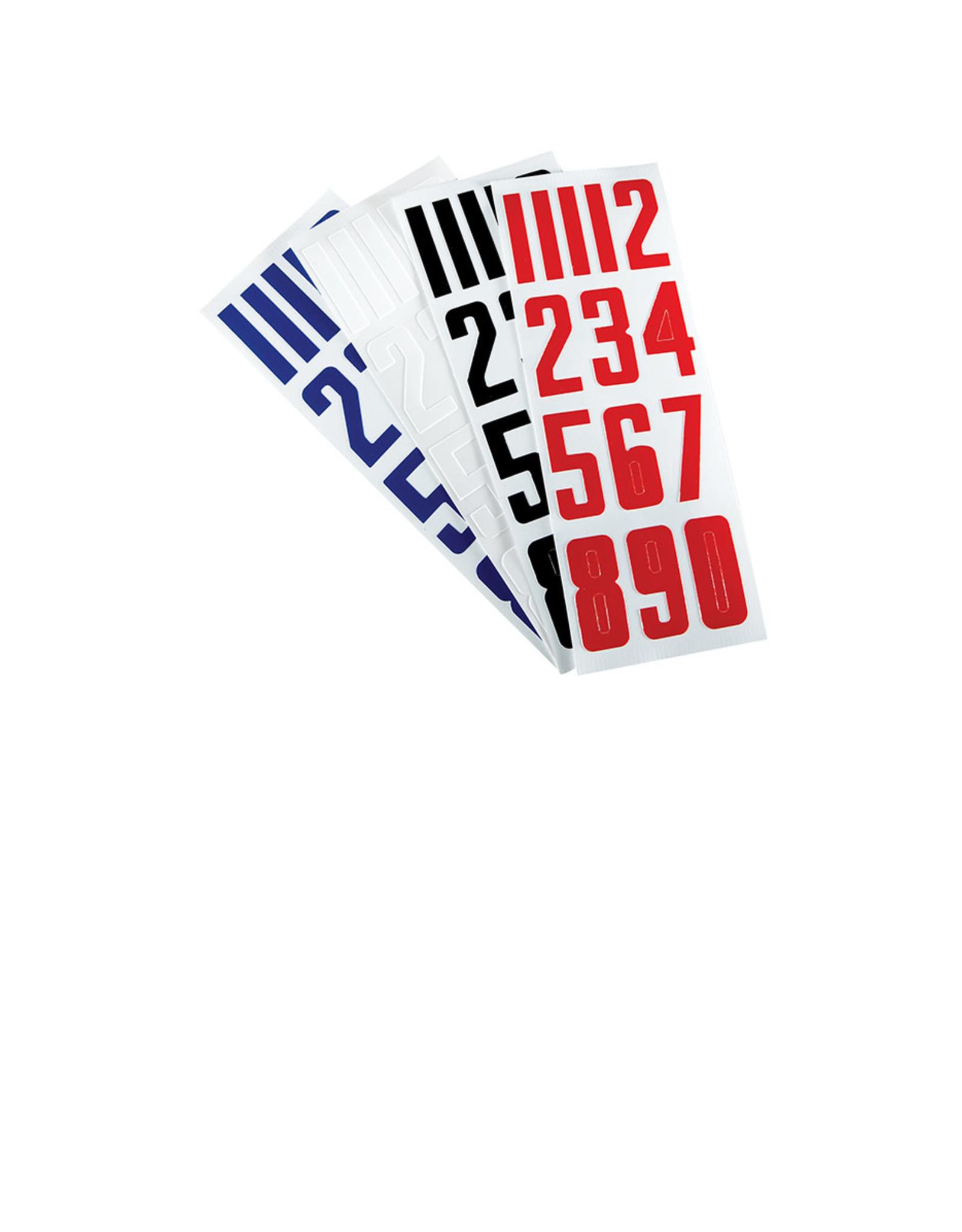Bauer Helmet Numbers 3 sheets