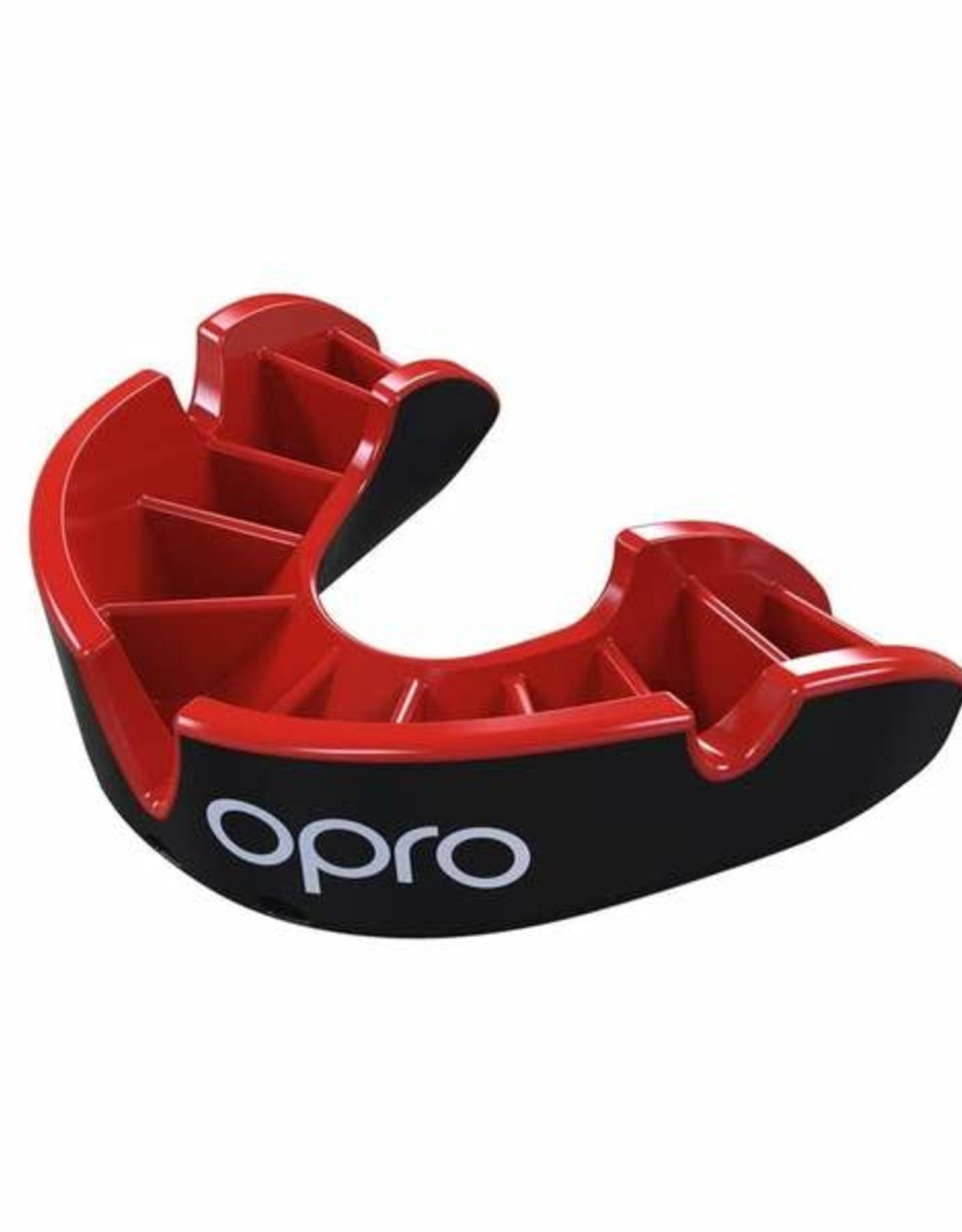 OPRO MOUTH SELF FIT SILV. SR. BLK/RED