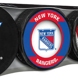 NHL 4 Puck Souvenir Collection Pack NY