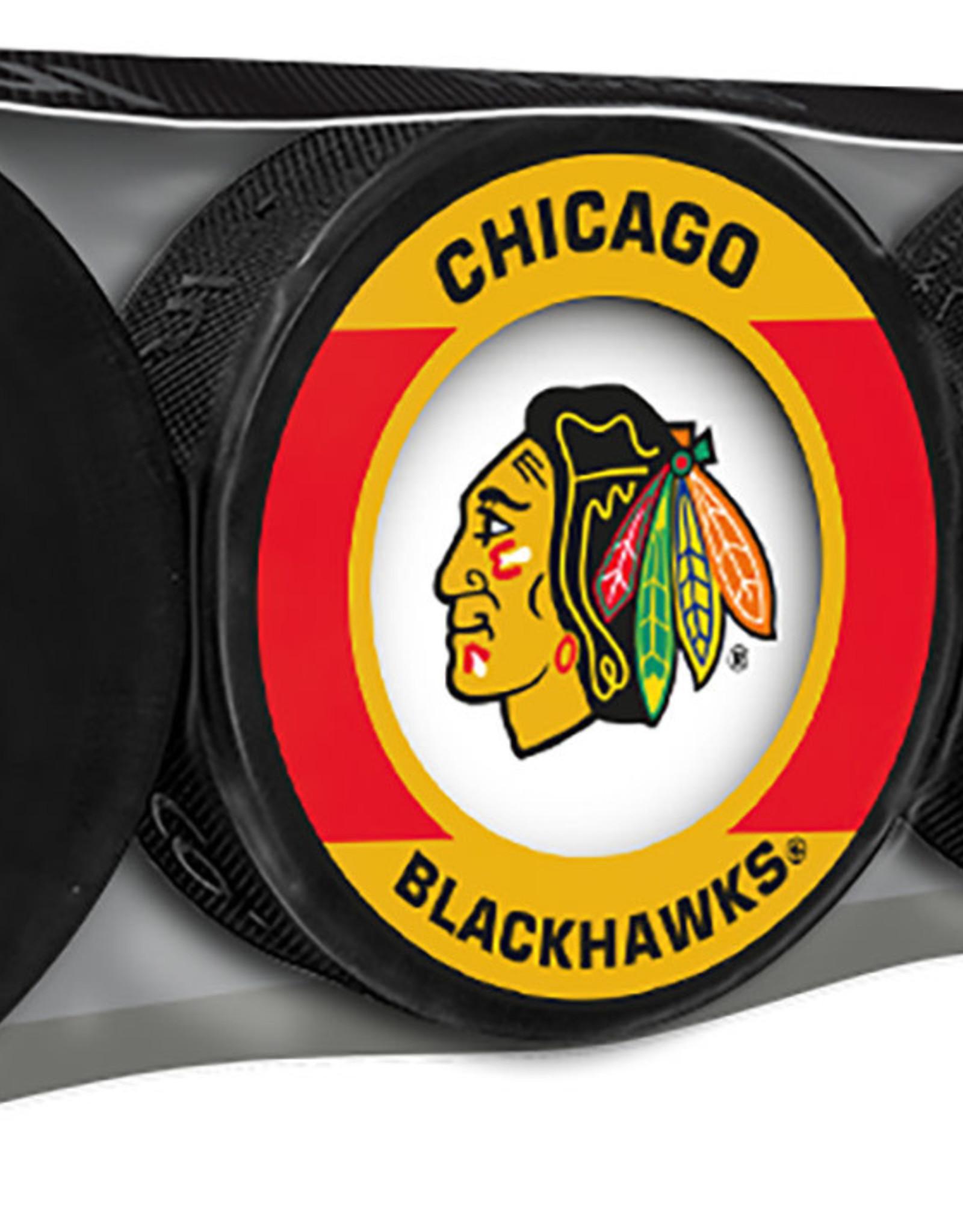 NHL 4 Puck Souvenir Collection Pack CHIC