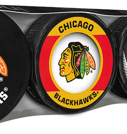 NHL 4 Puck Souvenir Collection Pack CHIC
