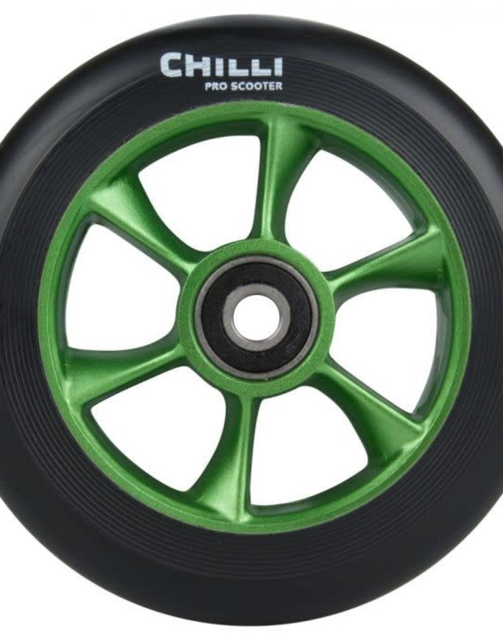 Chilli Chilli Step Wheel Turbo 110MM Black/Green Core