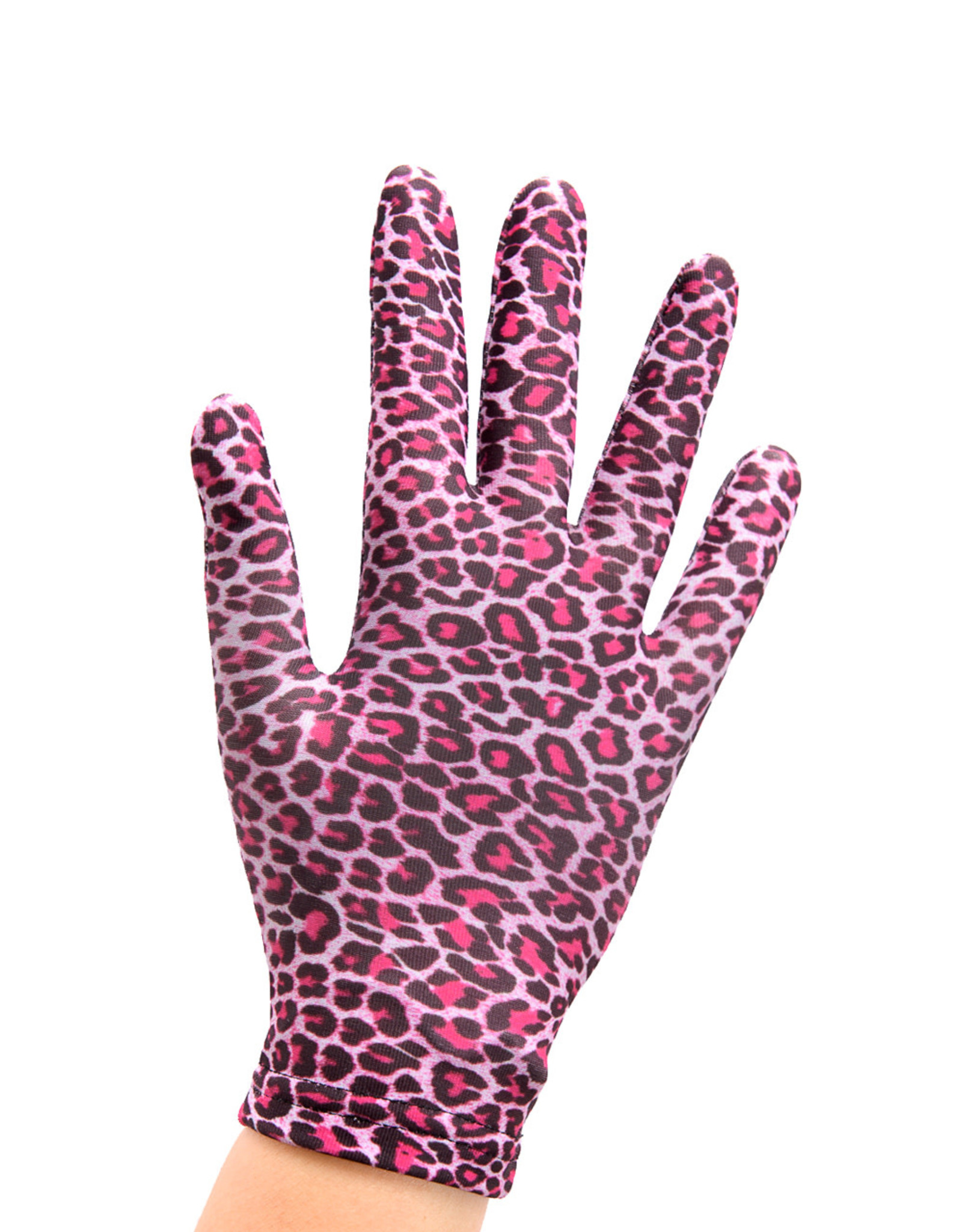 Sagester Gloves with Pink Leopard Motif 541