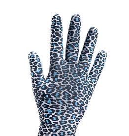 Sagester Gloves with Blue Leopard Motif 541