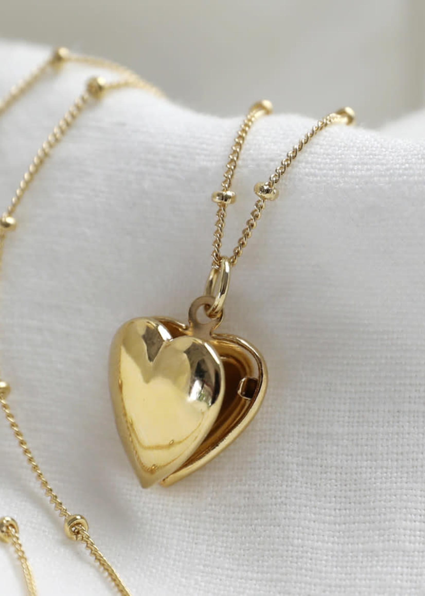 Lisa Angel Ketting medallion hart GOUD