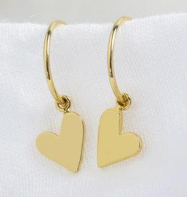 Lisa Angel Oorbellen hart goud