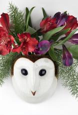 Quail Wandvaas UIL WIT barn owl Small