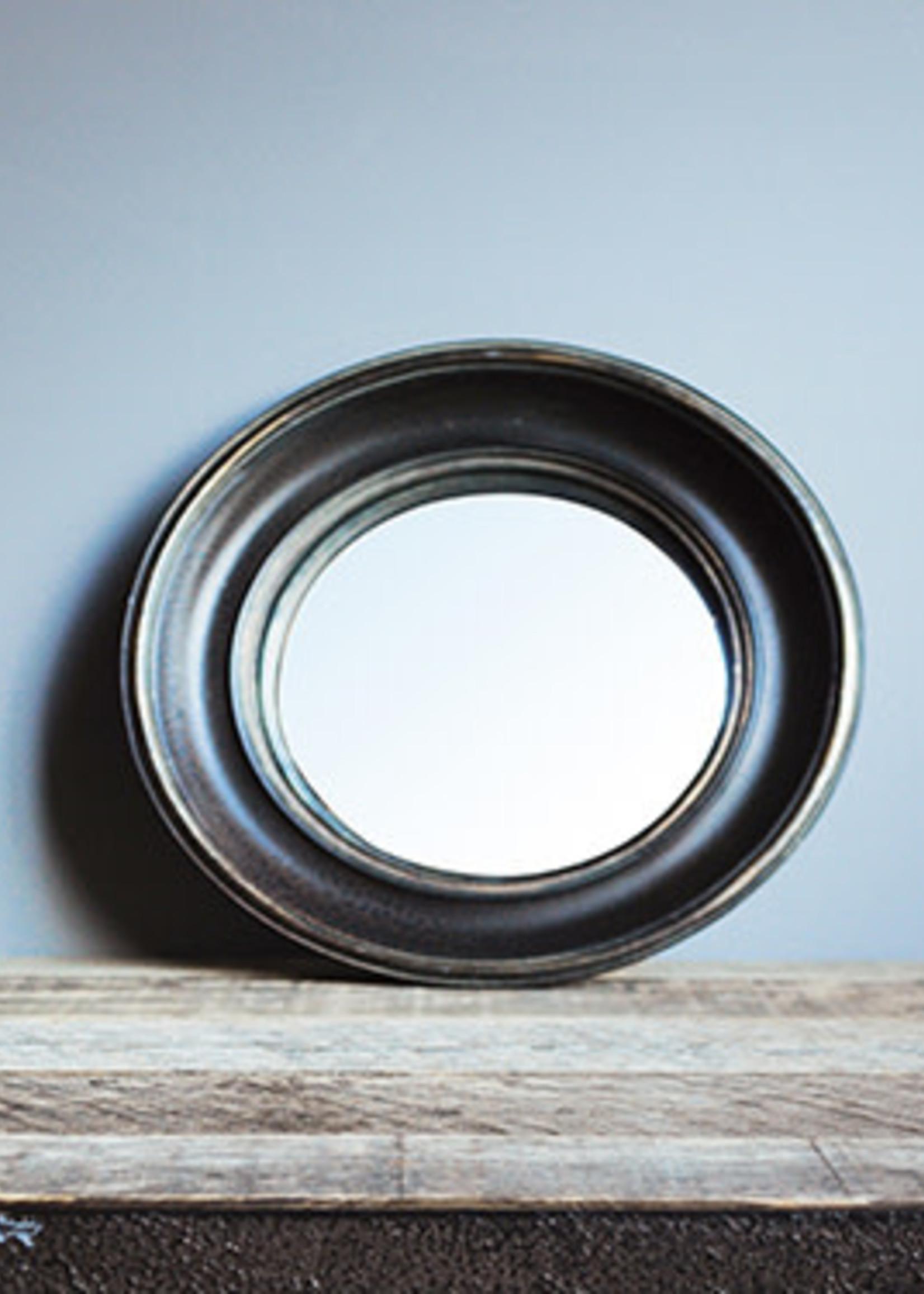 Chehoma Bolle spiegel 26.5 cm ZWART GOUD