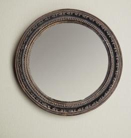Chehoma Bolle spiegel 9.3 cm ANTIEK ZWART